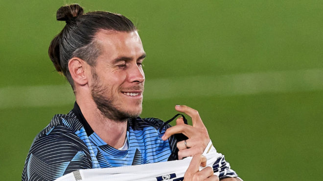 Gareth Bale, la noche de la celebración de LaLiga.