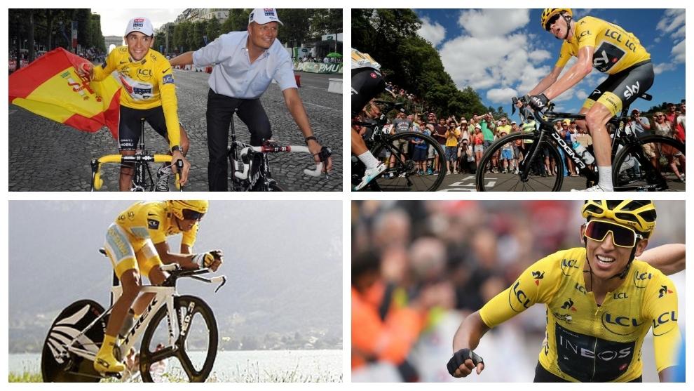 Bernal, Froome, Contador y Sastre.