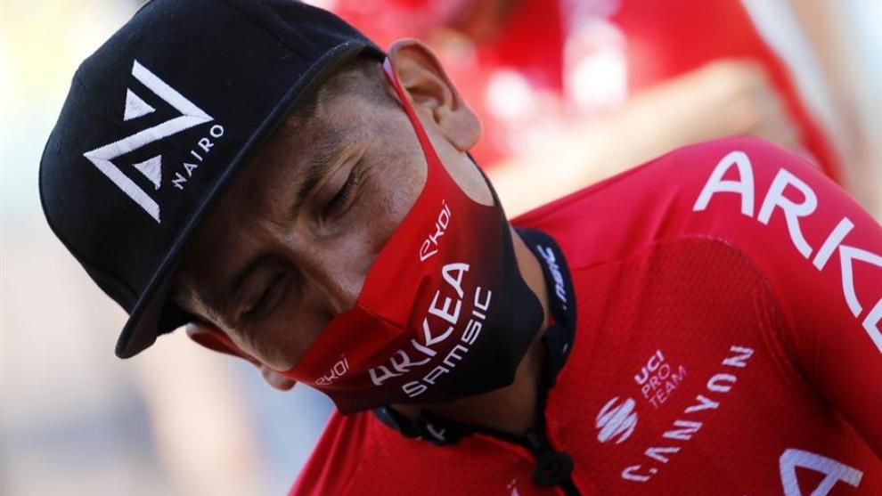 Tour de Francia: Nairo Quintana durante la etapa 17