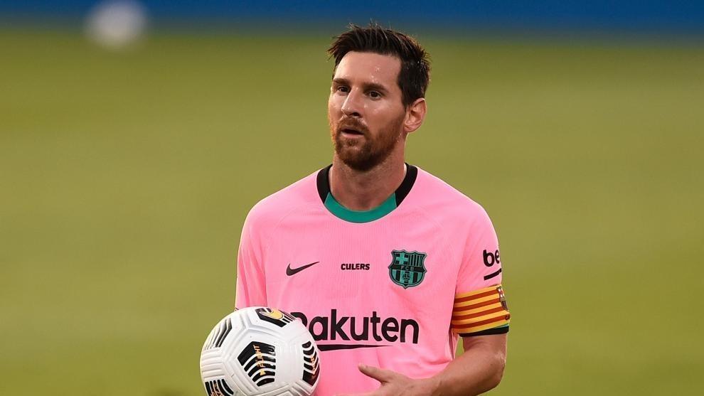 Lionel Messi, en partido de pretemporada con el Barcelona.