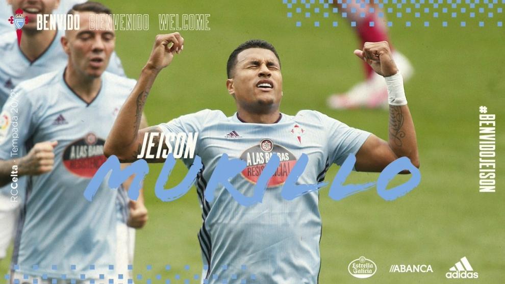 Anuncio oficial de Jeison Murillo en el Celta de Vigo.