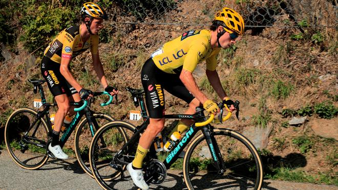 Primoz Roglic, durante la etapa 18.