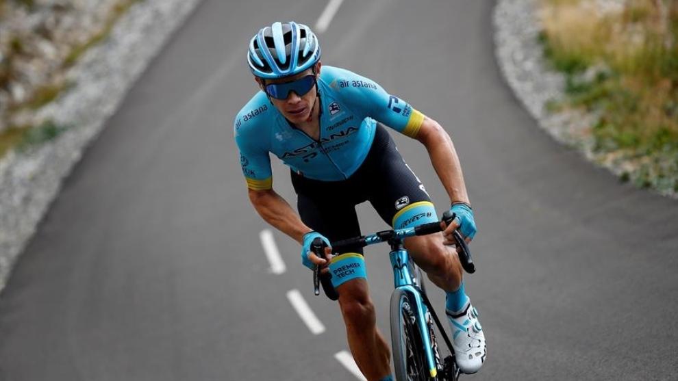 Tour de Francia: Miguel Ángel 'Supermán López en acción durante la...
