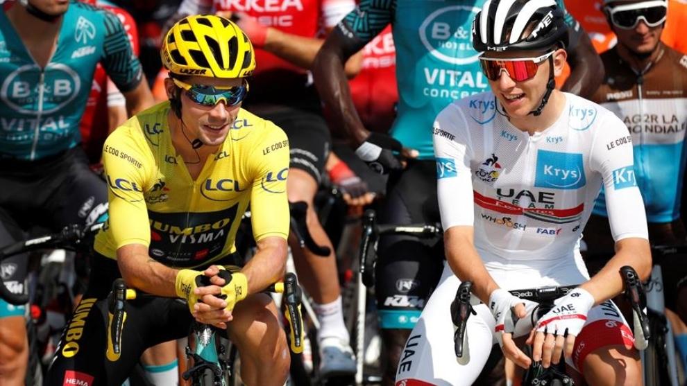 Tour de Francia: Primoz Roglic y Tadej Pogacar, los dos primeros de...