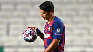 Luis Suárez, delantero del FC Barcelona.