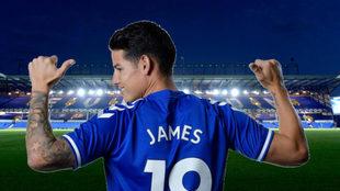 James, tras su presentación con el Everton