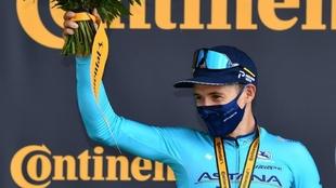 Tour de Francia: 'Supermán' López en el podio de la etapa...