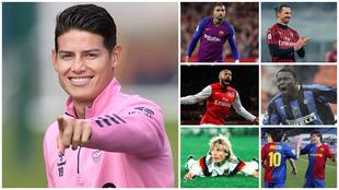 James Rodríguez y otros jugadores que han marcado goles en cuatro...