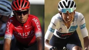 Nairo Quintana y Egan Bernal en el Tour de Francia 2020