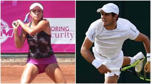 Collage de los tenistas colombianos María Camila Osorio y Nicolás...