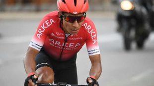 Nairo Quintana en una de las etpas del último Tour de Francia.