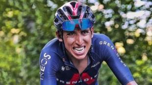 Egan Bernal durante el Tour de Francia