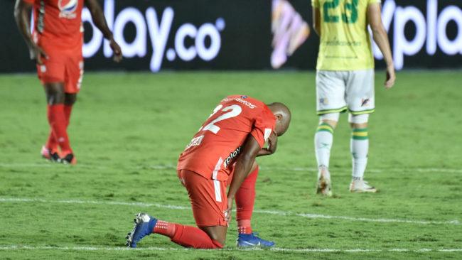 Nicolás Giraldo, al término del partido ante Bucaramanga.