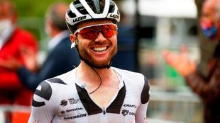 Marc Hirschi, después de la carrera.
