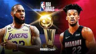Las finales de la NBA de 2020 entre Los Ángeles Lakers y Miami Heat.