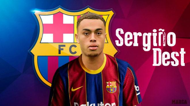 Sergiño Dest ya es nuevo jugador del FC Barcelona.
