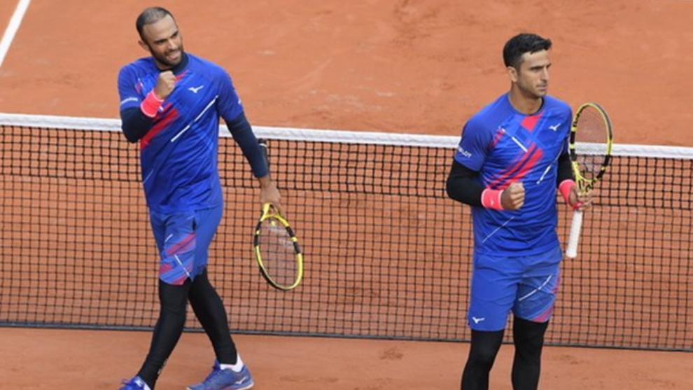 Cabal y Farah, en Roland Garros.