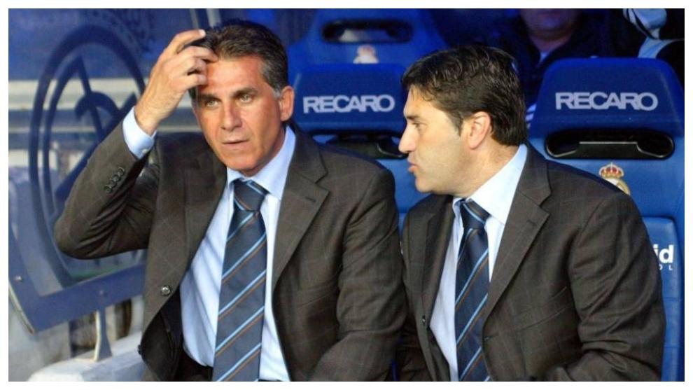 Carlos Queiroz y José Peseiro en el Real Madrid.