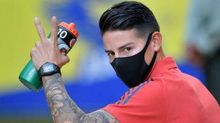 James, en la concentración de la Selección Colombia