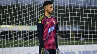 Camilo Vargas, durante un entrenamiento de la Selección Colombia.