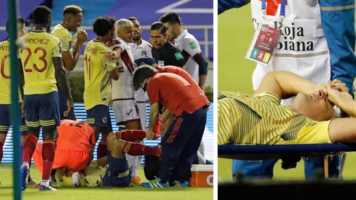 Las impactantes imágenes de la grave lesión de Arias: ¡qué mala...