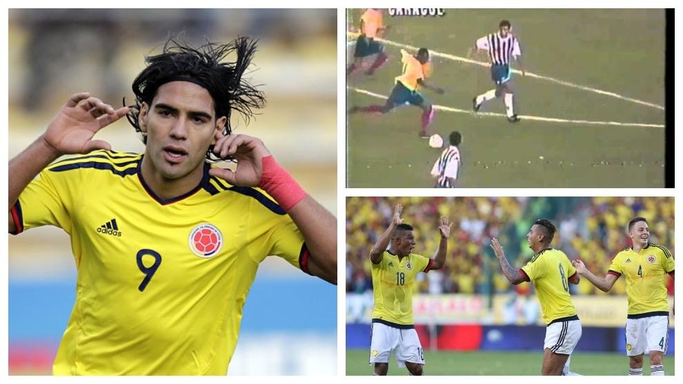 Los triunfos de Colombia ante Bolivia, Paraguay y Perú en los...