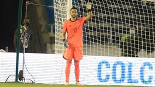 Camilo Vargas, durante el partido contra Venezuela.