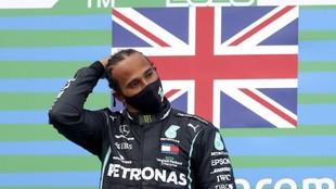 Lewis Hamilton tras su última victoria.