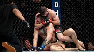 La victoria de Khabib ante McGregor.