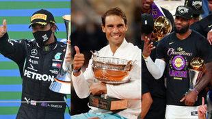 Lewis Hamilton, Rafa Nadal y LeBron James.