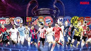 Las mejores plantillas de fútbol de Europa