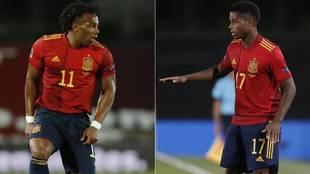 España se la juega con Ansu Fati y Adama Traoré en Ucrania.