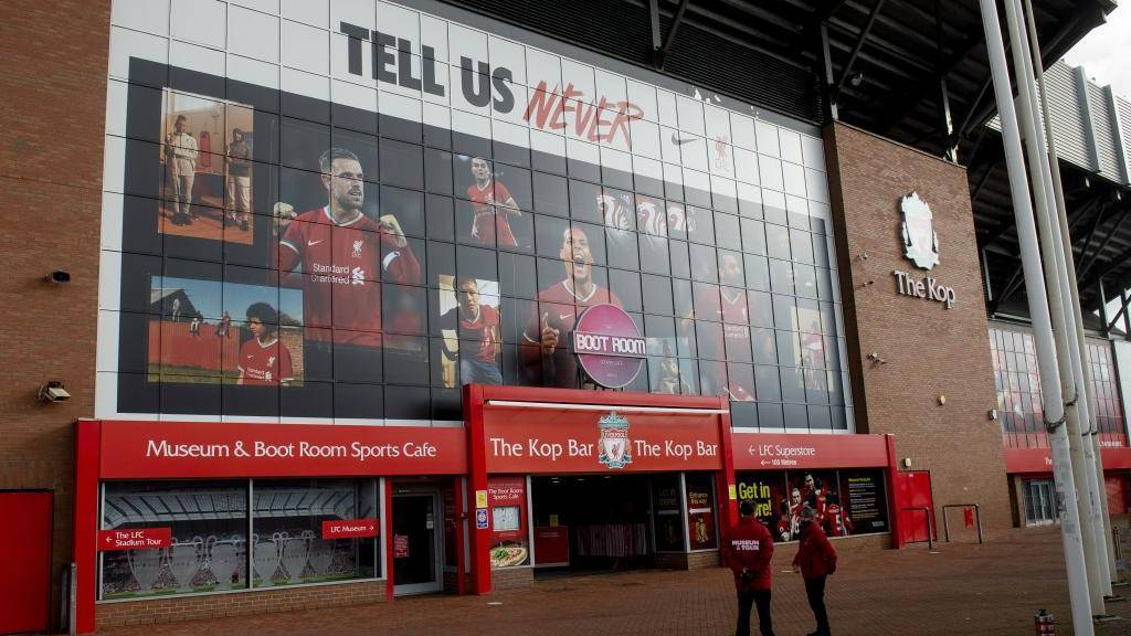 Exteriores del estadio de Anfield