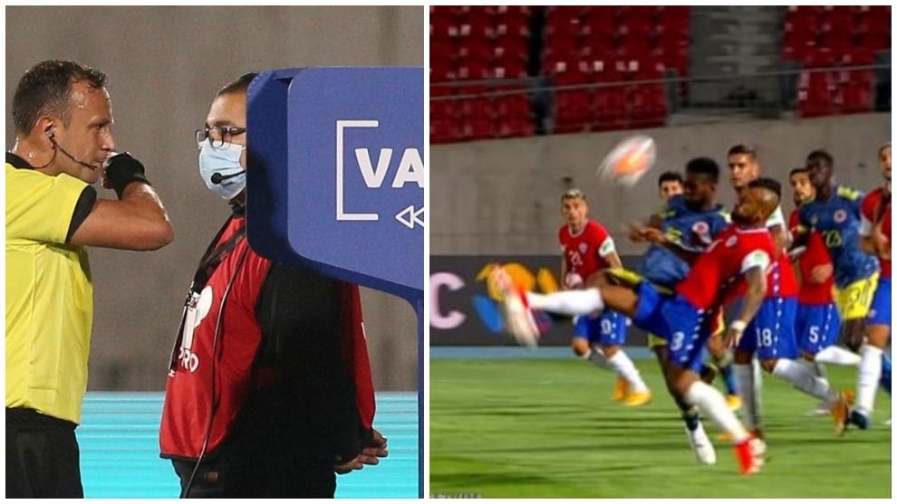 El árbitro argentino recibió el llamado del VAR tras avisar que fue...