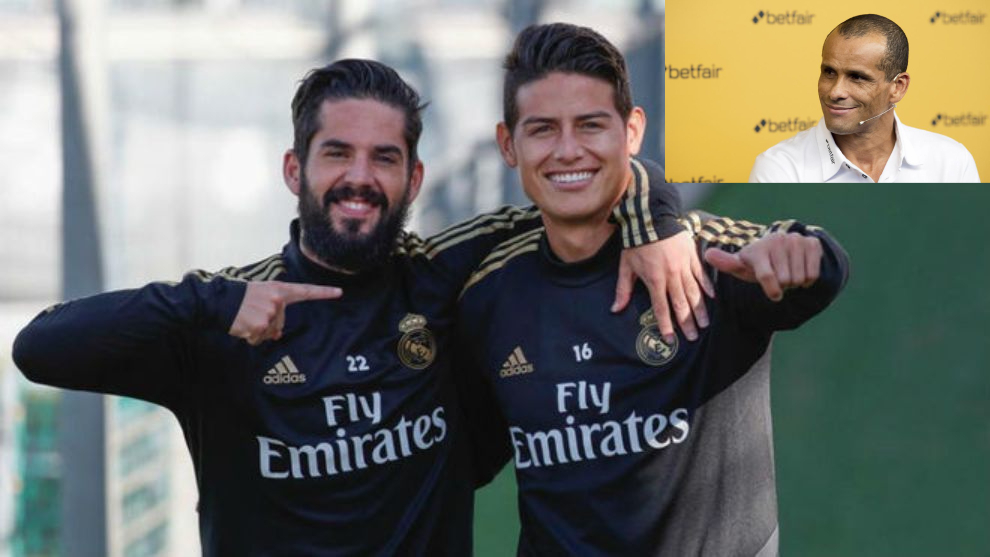 Collage de Isco, James y Rivaldo.