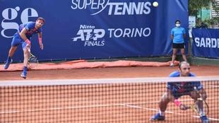 Robert Farah y Robert Farah en la final del ATP 250 de Cerdeña