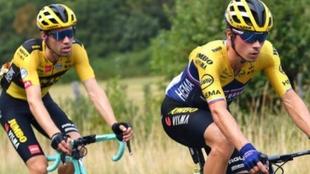 Primoz Roglic y Tom Dumoulin se preparan para el inicio de La Vuelta