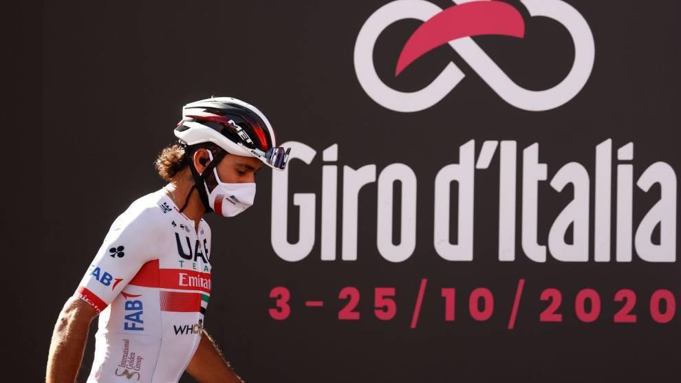 Gaviria, en el podio del Giro