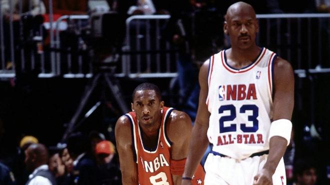 Kobe y Jordan, en un All-Star Game.