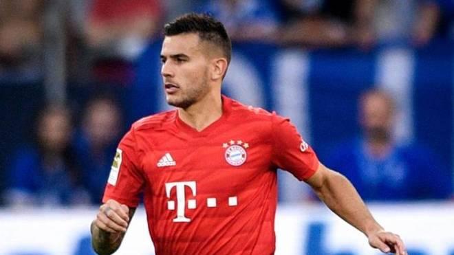 Lucas Hernández, durante un partido con el Bayern
