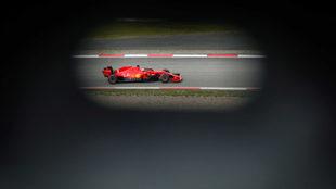 Sebastian Vettel, en unos entrenamientos libres en el GP de Eifel.