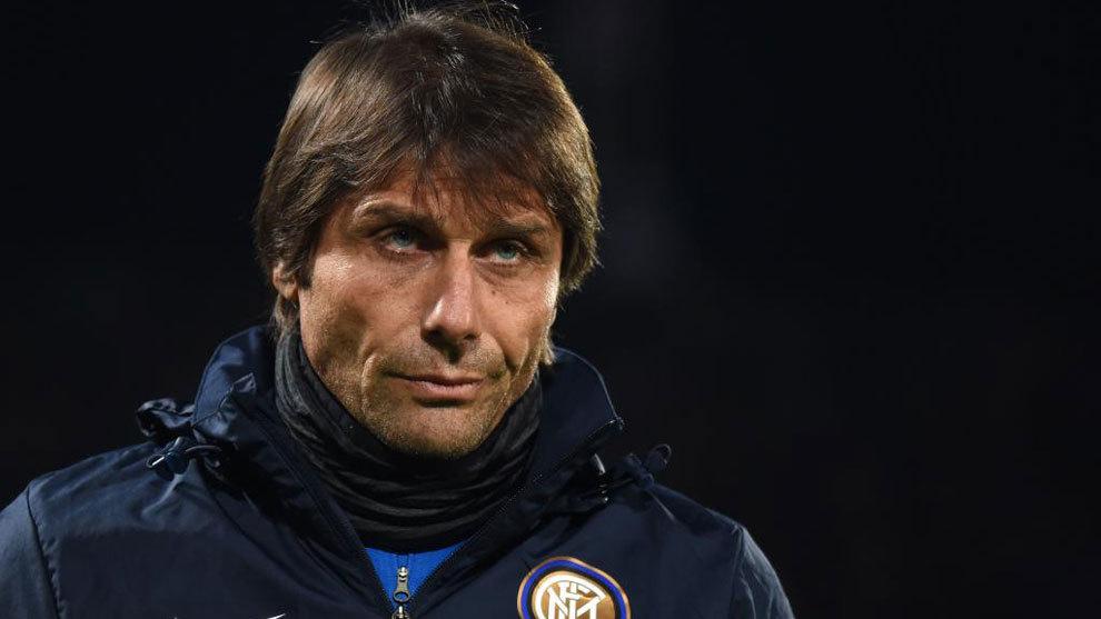 Antonio Conte, en un partido con el Inter