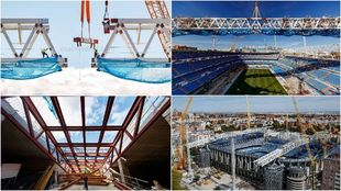 Las obras del Santiago Bernabéu avanzan de manera espectacular