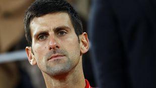 Djokovic tras su derrota en París.