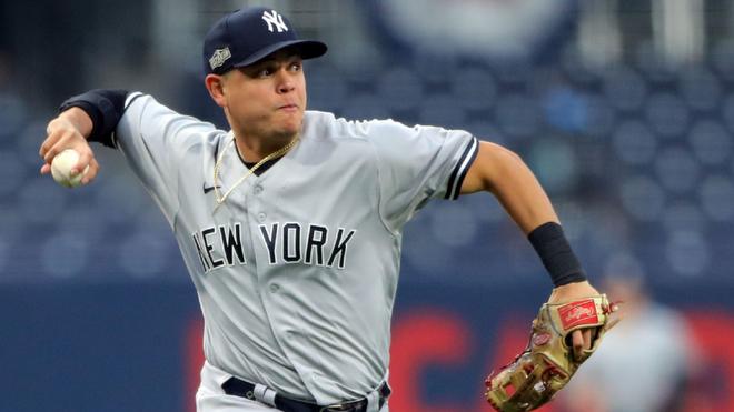 Gio Urshela, en acción con los New York Yankees.