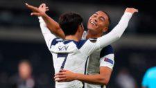 Son celebra el último de los tantos del Tottenham contra LASK.