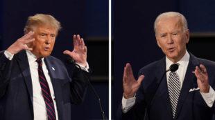 El debate de EEUU, etre Trump y Biden, en directo.