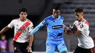 Johan Arango contra River Plate por la Copa Libertadores de América.