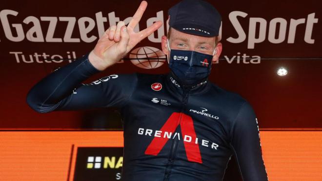Geoghegan Hart se llevó la etapa 20 del Giro de Italia.