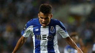 Luis Díaz celebra una de sus goles con el Oporto.